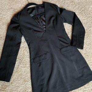 Nasty Gal mini black blazer